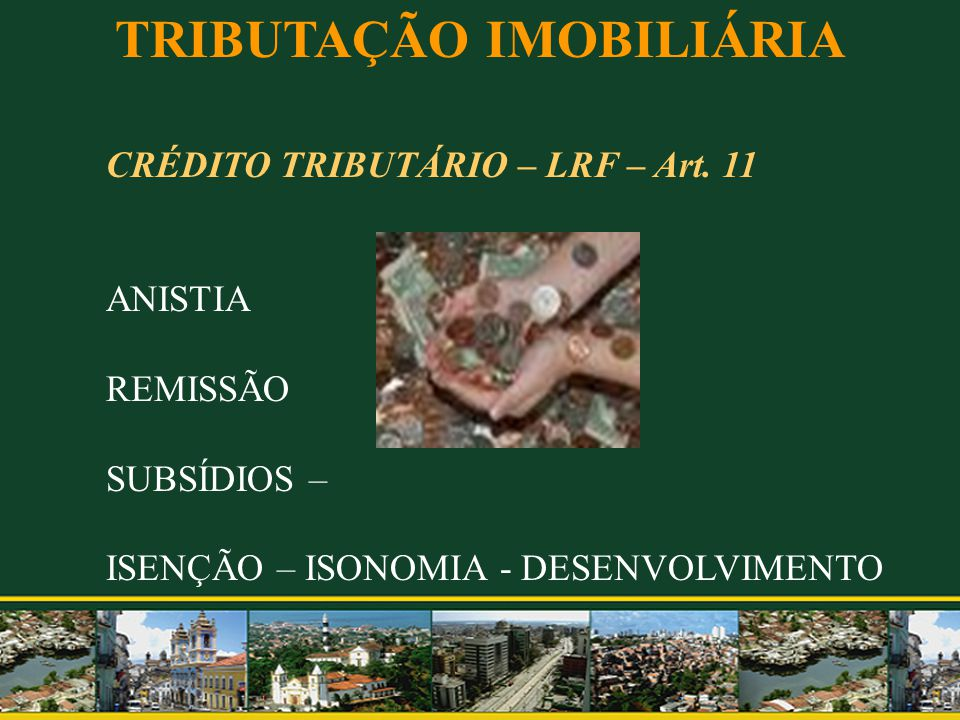 TRIBUTAÇÃO IMOBILIÁRIA