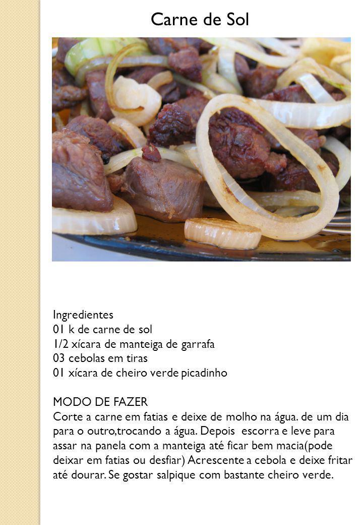 Carne de Sol Ingredientes 01 k de carne de sol