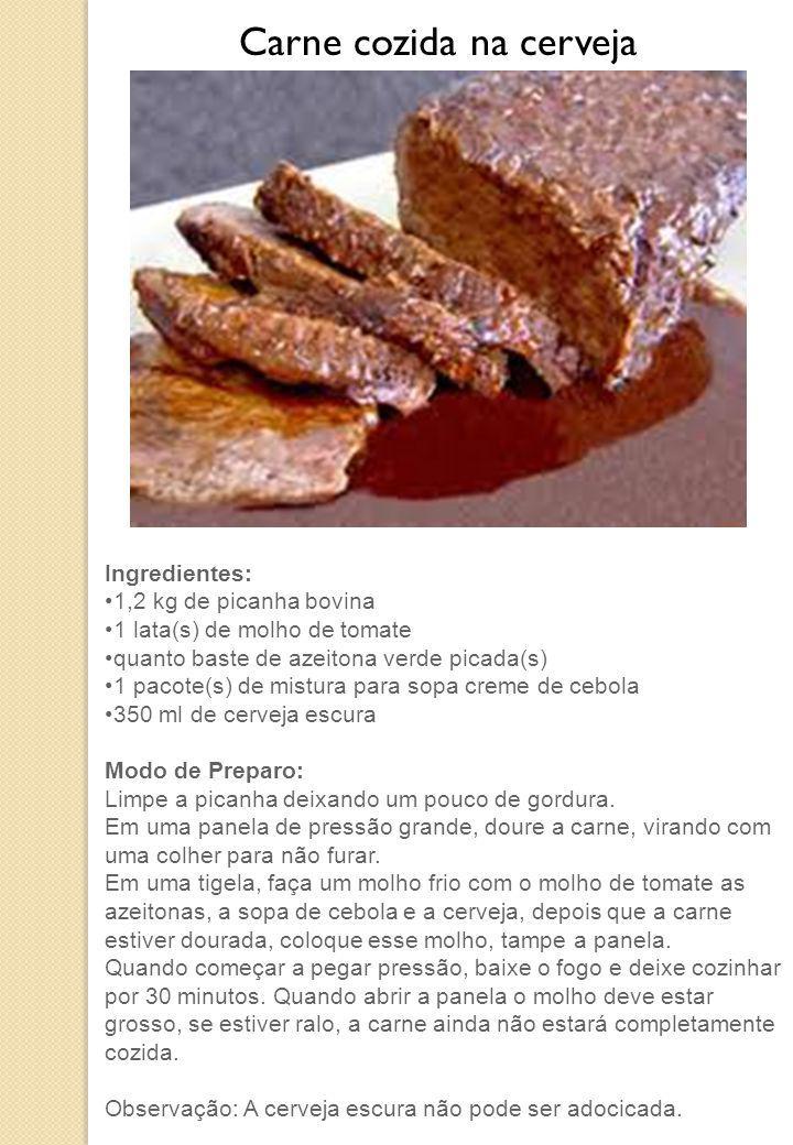 Carne cozida na cerveja
