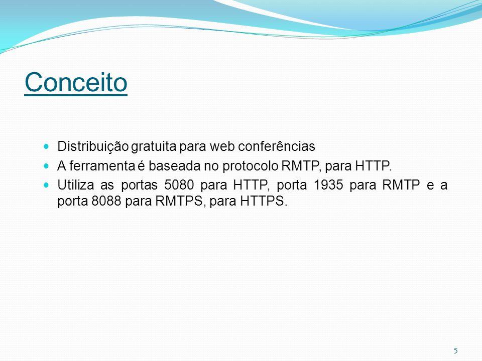 Conceito Distribuição gratuita para web conferências