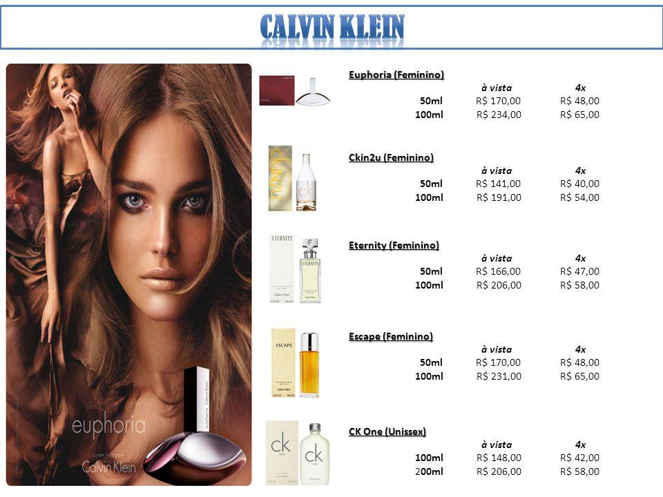 Calvin klein Euphoria (Feminino) à vista 4x 50ml R$ 170,00 R$ 48,00