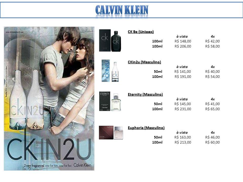 Calvin klein CK Be (Unissex) à vista 4x 100ml R$ 148,00 R$ 42,00
