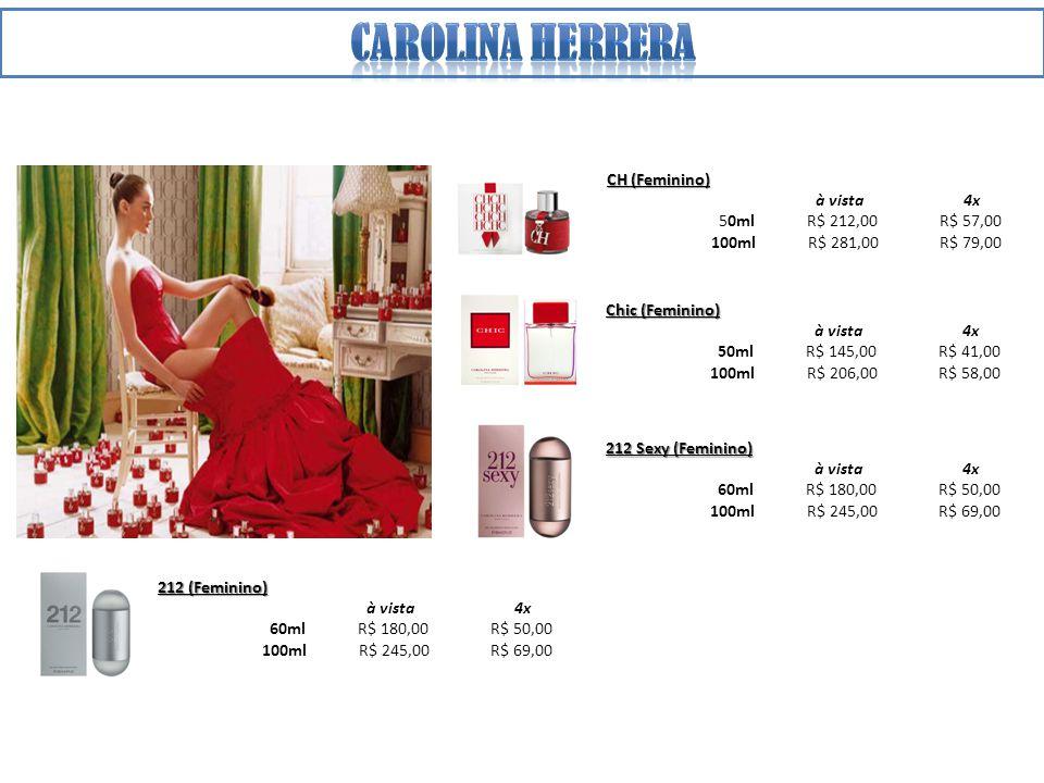 Carolina herrera CH (Feminino) à vista 4x 50ml R$ 212,00 R$ 57,00