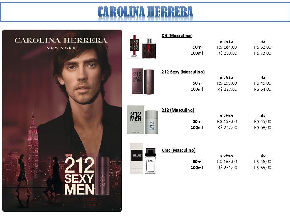 Carolina herrera CH (Masculino) à vista 4x 50ml R$ 184,00 R$ 52,00