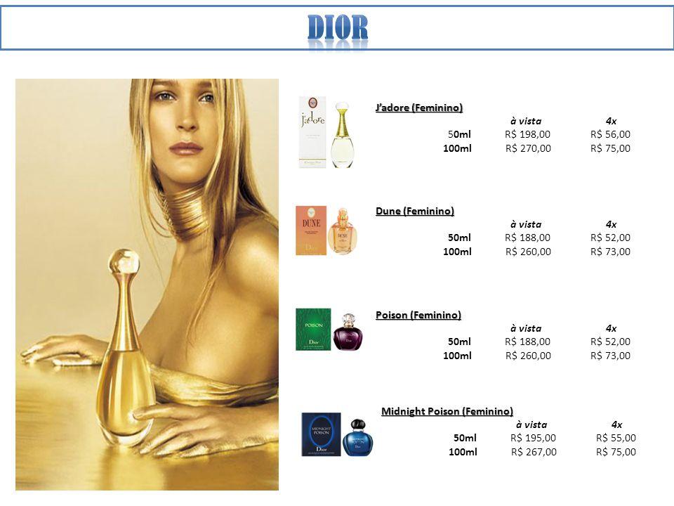 dior J'adore (Feminino) à vista 4x 50ml R$ 198,00 R$ 56,00