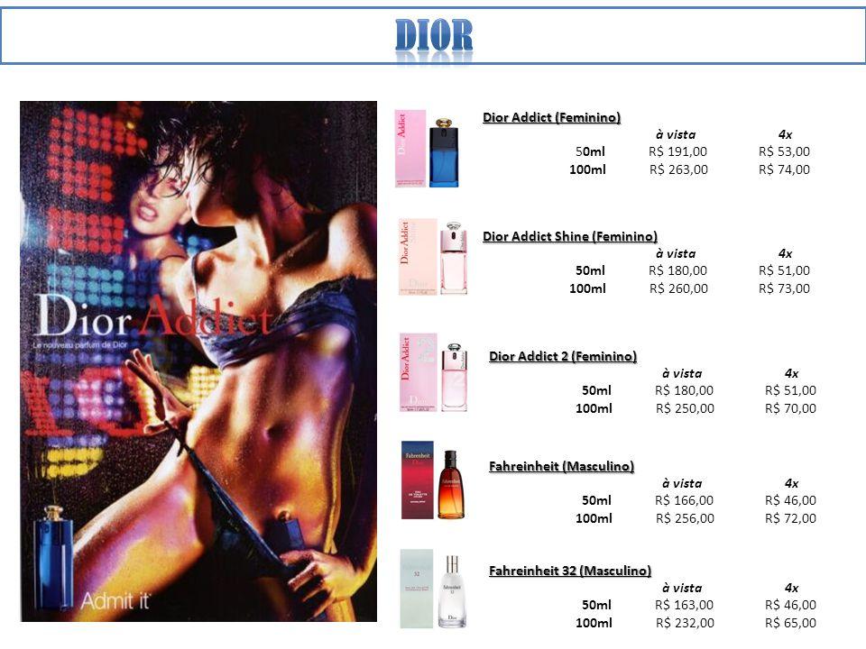 dior Dior Addict (Feminino) à vista 4x 50ml R$ 191,00 R$ 53,00
