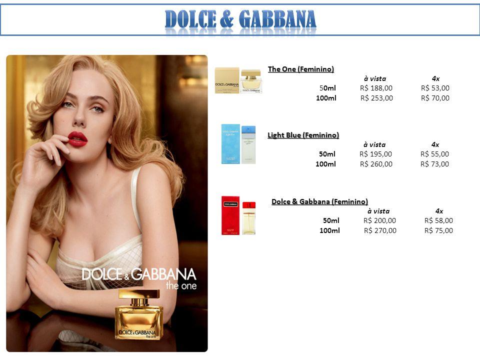 Dolce & gabbana The One (Feminino) à vista 4x 50ml R$ 188,00 R$ 53,00