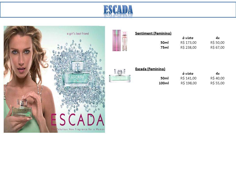 escada Sentiment (Feminino) à vista 4x 50ml R$ 173,00 R$ 50,00