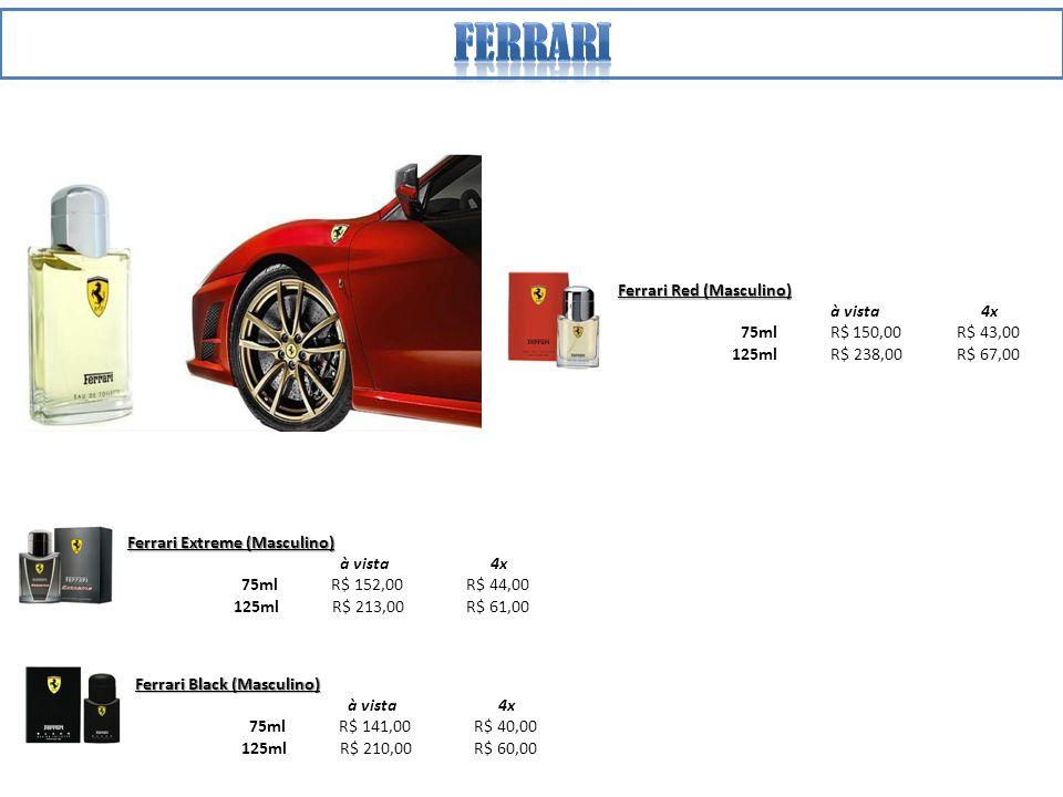 ferrari Ferrari Red (Masculino) à vista 4x 75ml R$ 150,00 R$ 43,00