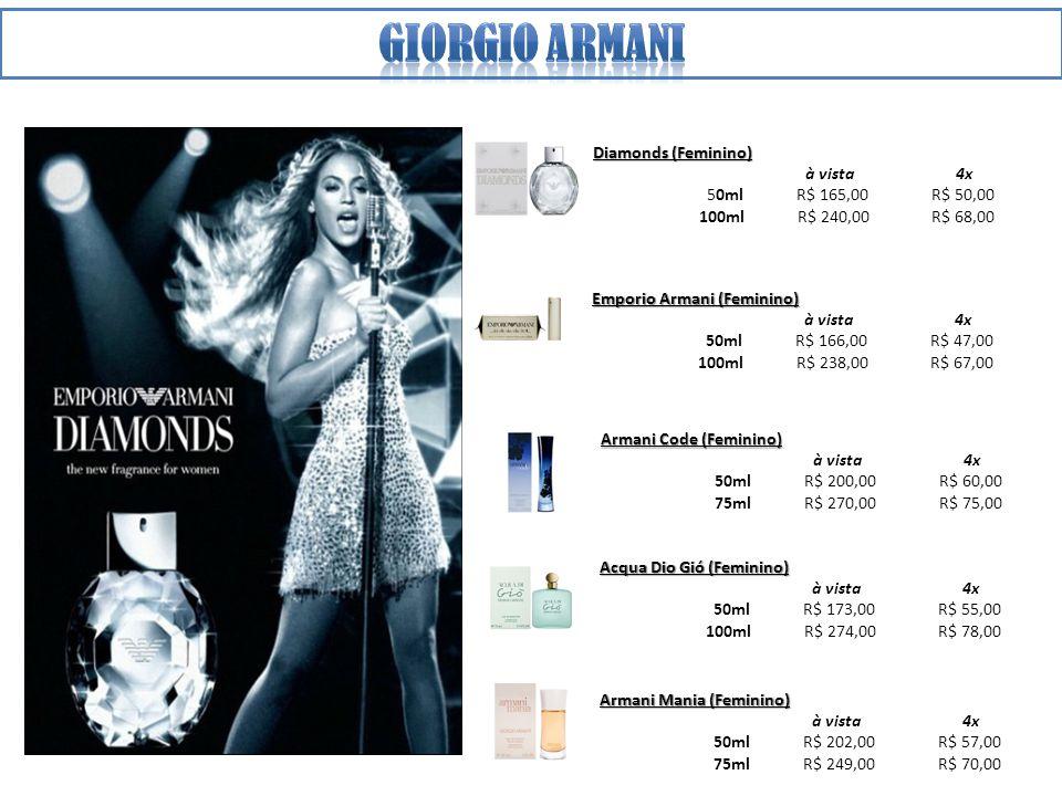 Giorgio armani Diamonds (Feminino) à vista 4x 50ml R$ 165,00 R$ 50,00