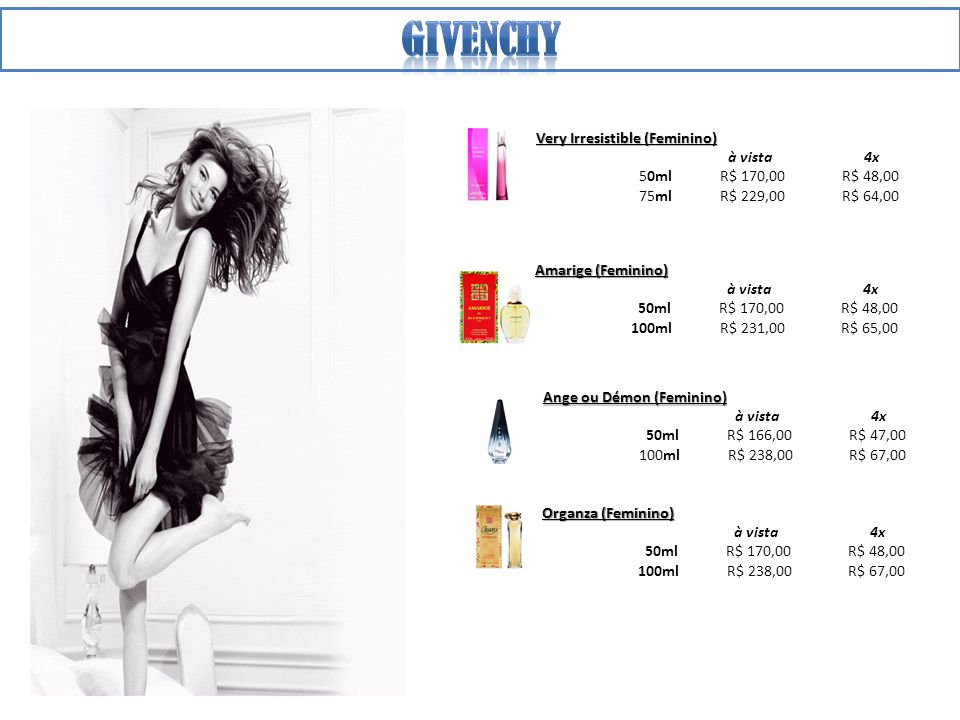Givenchy Very Irresistible (Feminino) à vista 4x