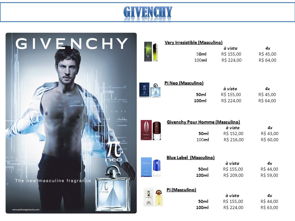 Givenchy Very Irresistible (Masculino) à vista 4x