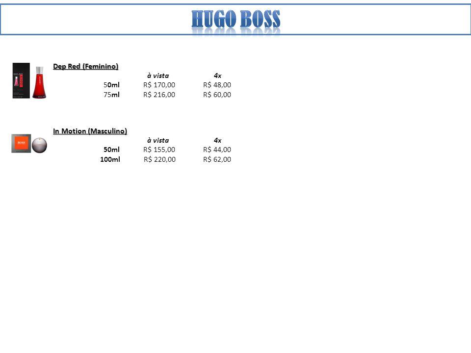 Hugo boss Dep Red (Feminino) à vista 4x 50ml R$ 170,00 R$ 48,00