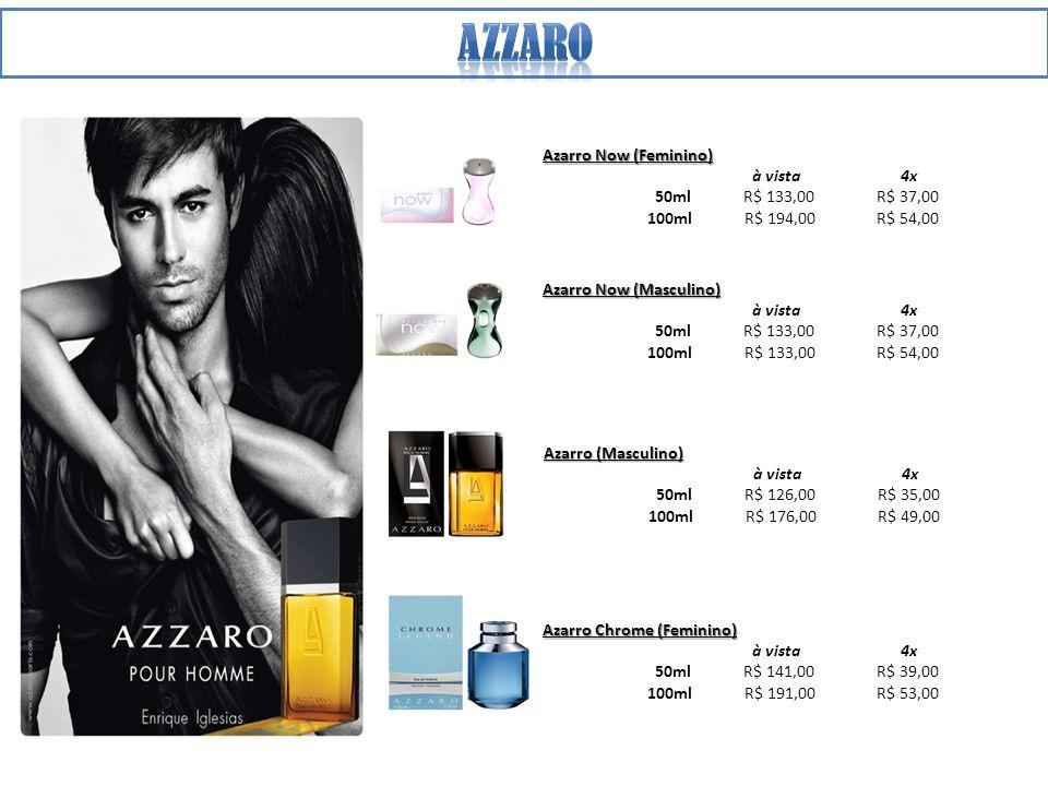 Azzaro Azarro Now (Feminino) à vista 4x 50ml R$ 133,00 R$ 37,00