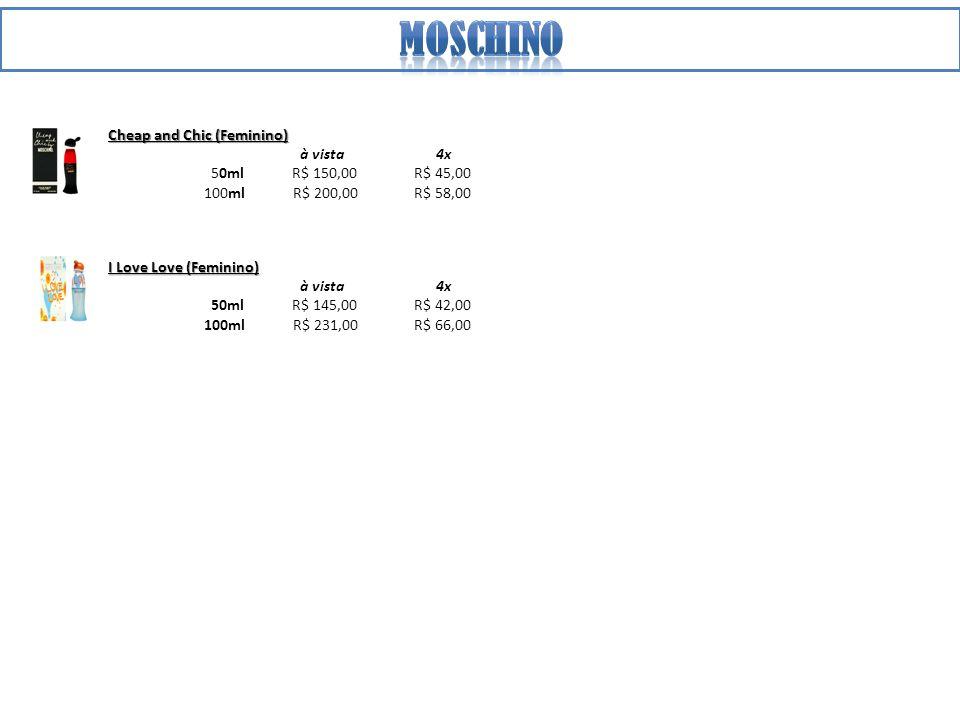moschino Cheap and Chic (Feminino) à vista 4x 50ml R$ 150,00 R$ 45,00