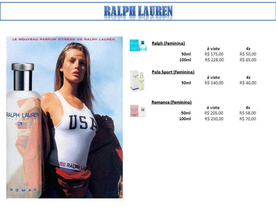 Ralph lauren Ralph (Feminino) à vista 4x 50ml R$ 175,00 R$ 50,00