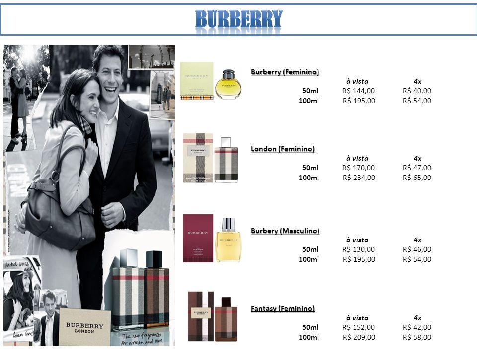 Burberry Burberry (Feminino) à vista 4x 50ml R$ 144,00 R$ 40,00