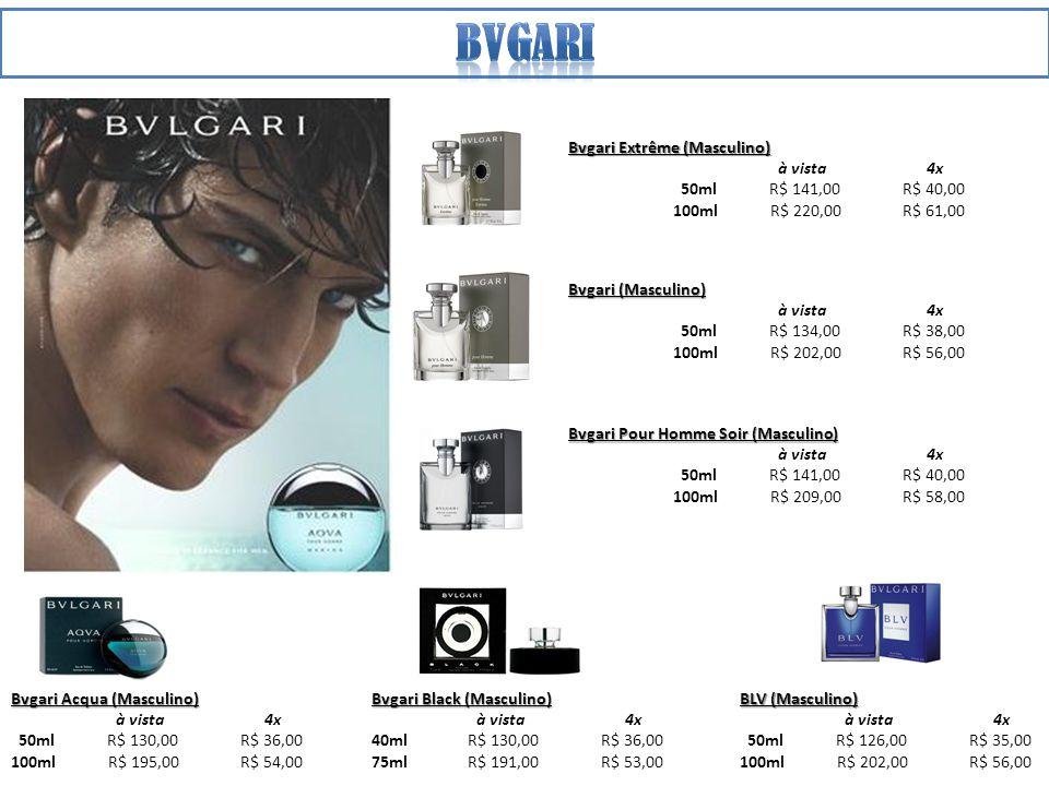BVgari Bvgari Extrême (Masculino) à vista 4x 50ml R$ 141,00 R$ 40,00