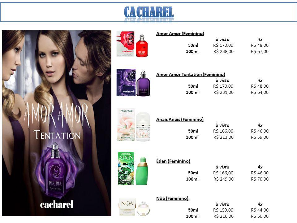 CACHAREL Amor Amor (Feminino) à vista 4x 50ml R$ 170,00 R$ 48,00