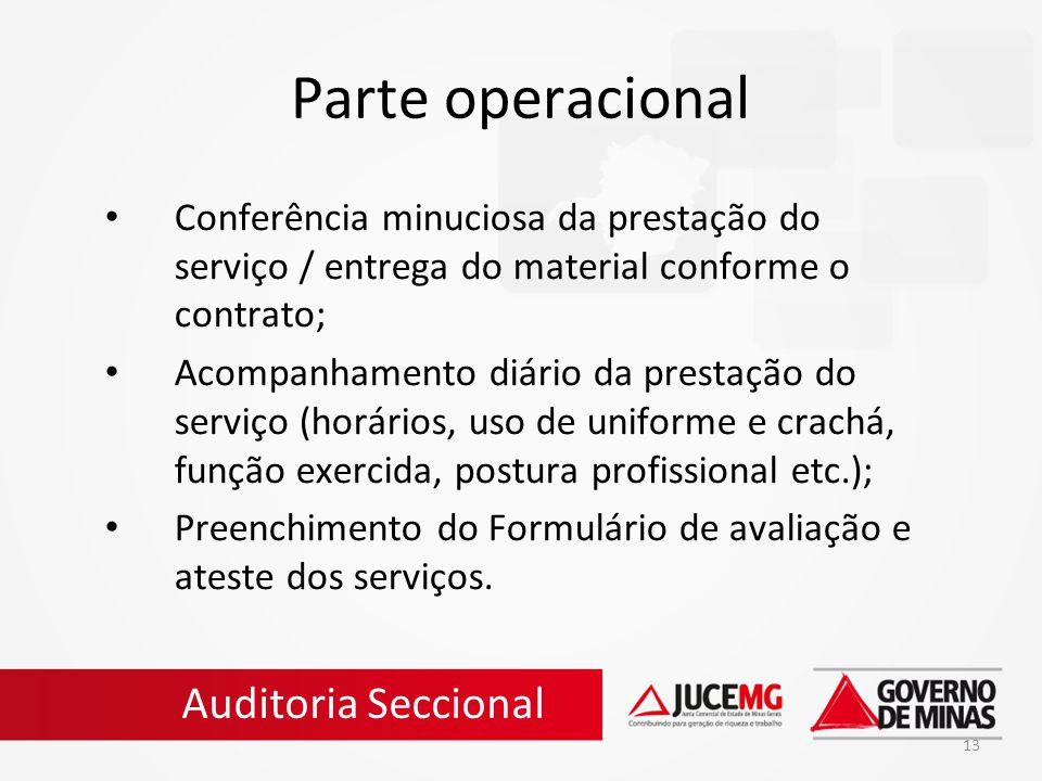 Parte operacional Auditoria Seccional
