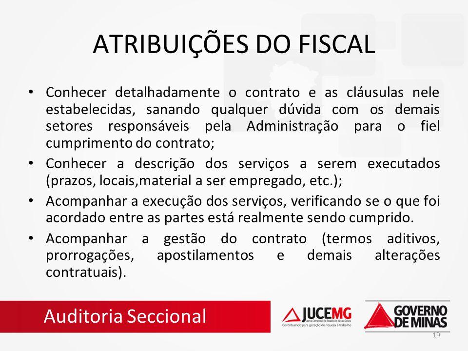 ATRIBUIÇÕES DO FISCAL Auditoria Seccional