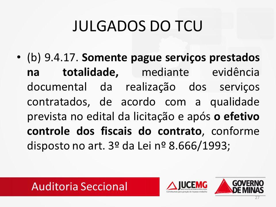 JULGADOS DO TCU