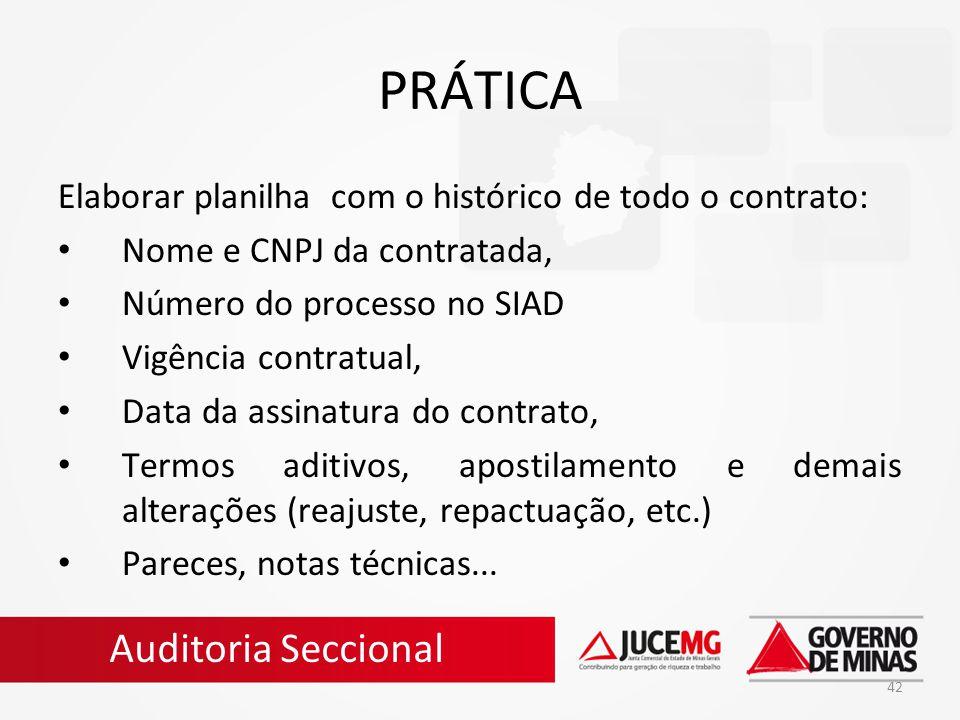 PRÁTICA Auditoria Seccional