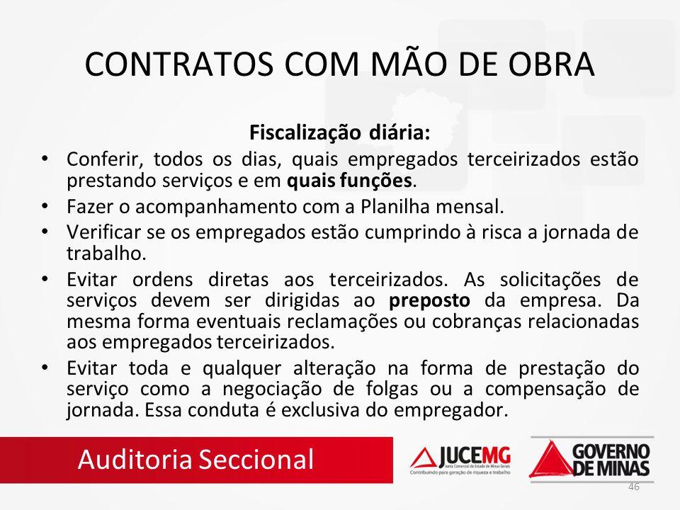 CONTRATOS COM MÃO DE OBRA