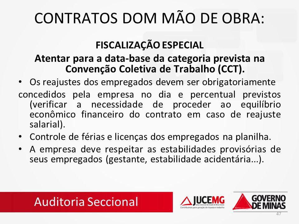 CONTRATOS DOM MÃO DE OBRA: