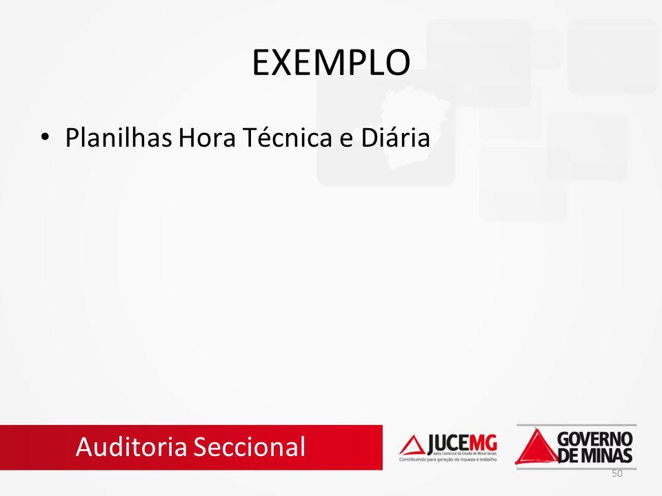 EXEMPLO Planilhas Hora Técnica e Diária Auditoria Seccional