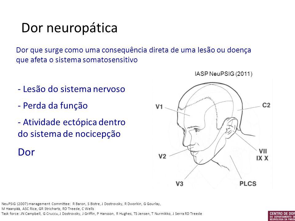 Dor neuropática Dor - Lesão do sistema nervoso - Perda da função