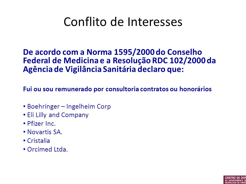 Conflito de Interesses