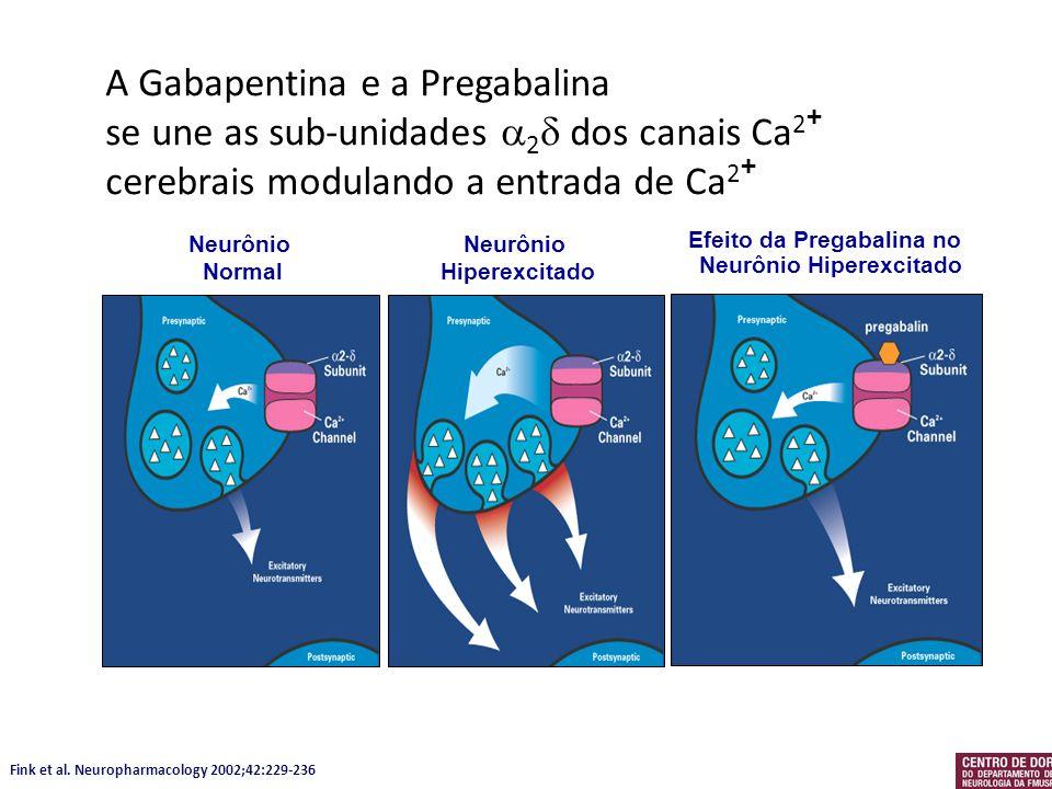 Efeito da Pregabalina no Neurônio Hiperexcitado