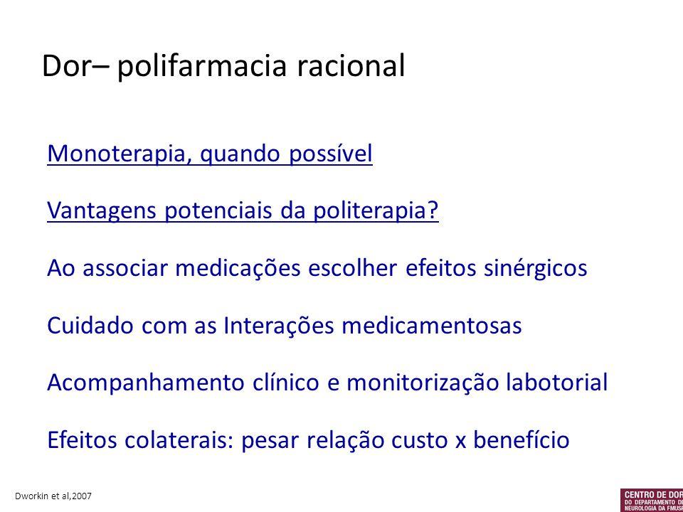 Dor– polifarmacia racional