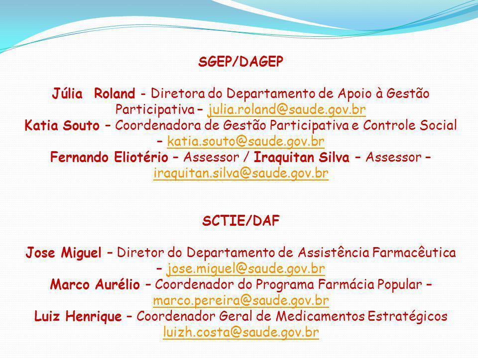 Luiz Henrique – Coordenador Geral de Medicamentos Estratégicos