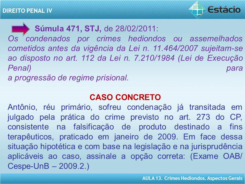 Súmula 471, STJ, de 28/02/2011: