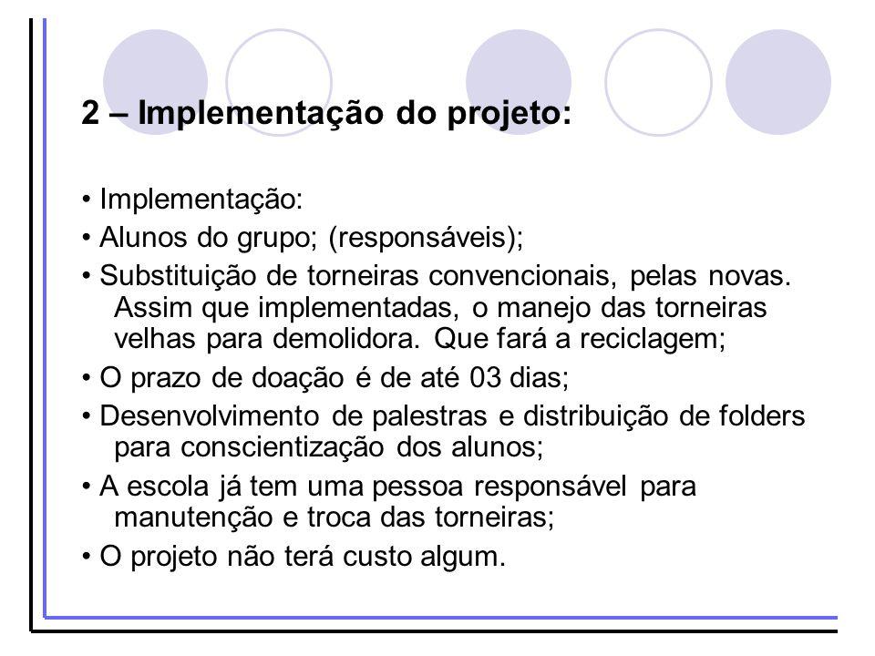 2 – Implementação do projeto: