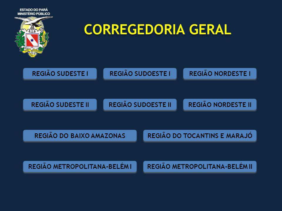 CORREGEDORIA GERAL REGIÃO SUDESTE I REGIÃO SUDOESTE I