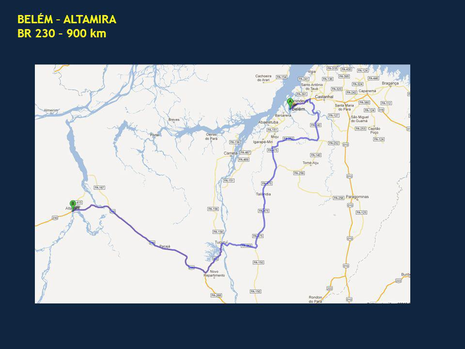 BELÉM – ALTAMIRA BR 230 – 900 km