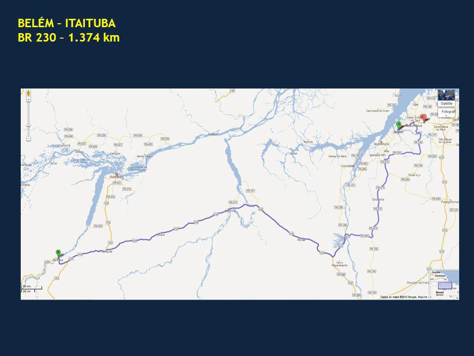 BELÉM – ITAITUBA BR 230 – 1.374 km