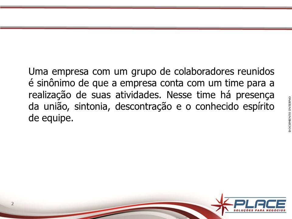 Uma empresa com um grupo de colaboradores reunidos é sinônimo de que a empresa conta com um time para a realização de suas atividades.