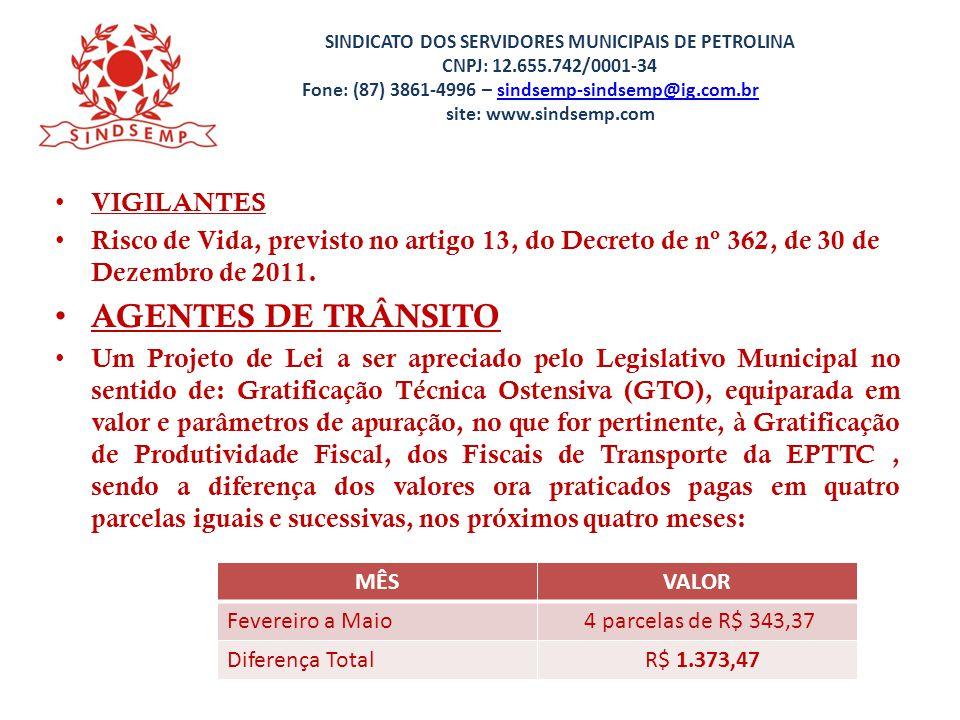 AGENTES DE TRÂNSITO VIGILANTES