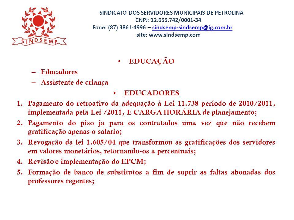 Revisão e implementação do EPCM;