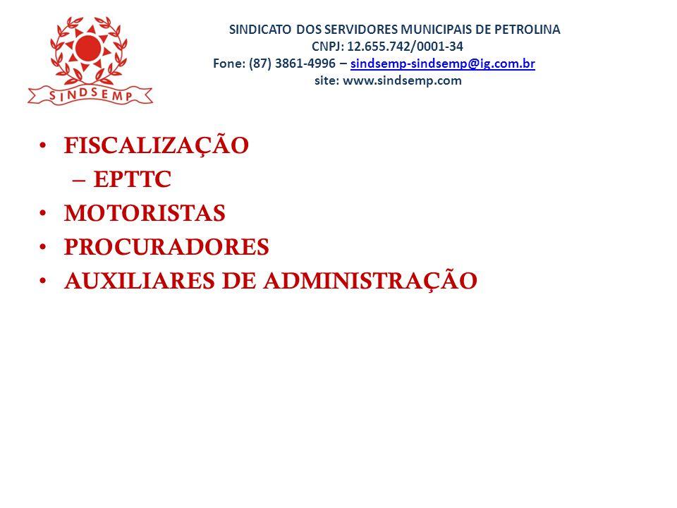 AUXILIARES DE ADMINISTRAÇÃO