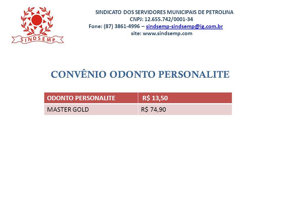 CONVÊNIO ODONTO PERSONALITE