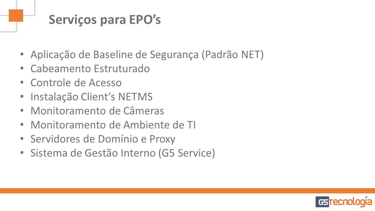 Serviços para EPO's Aplicação de Baseline de Segurança (Padrão NET)