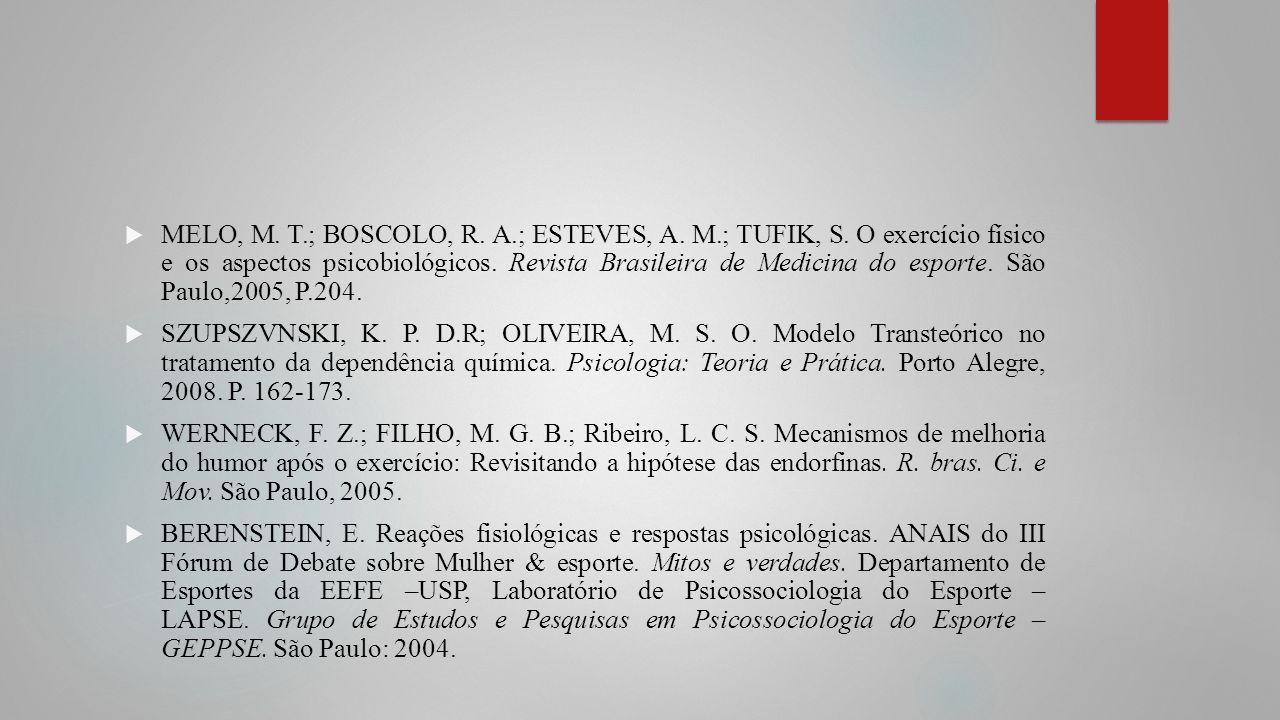 MELO, M. T. ; BOSCOLO, R. A. ; ESTEVES, A. M. ; TUFIK, S