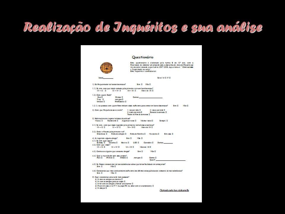 Realização de Inquéritos e sua análise