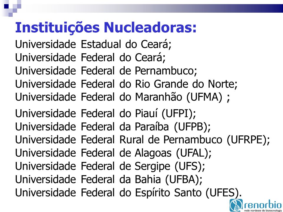 Instituições Nucleadoras:
