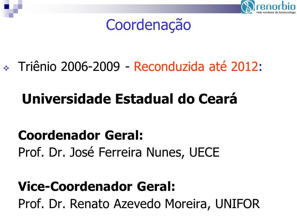 Coordenação Triênio 2006-2009 - Reconduzida até 2012: